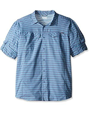 Men's Big-Tall Silver Ridge Plaid Long Sleeve Shirt, Oxygen, X-Large