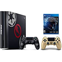 PS4 Star Wars Bundle (2 Items): PlayStation 4 Pro 1TB Limited Edition Console - Star Wars Battlefront II Bundle and an Extra PS4 Dualshock 4 Wireless Controller - Gold