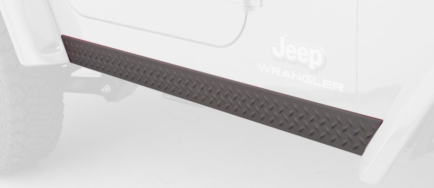 Bushwacker 14002 Jeep Trail Armor Side Rocker Panel Pair
