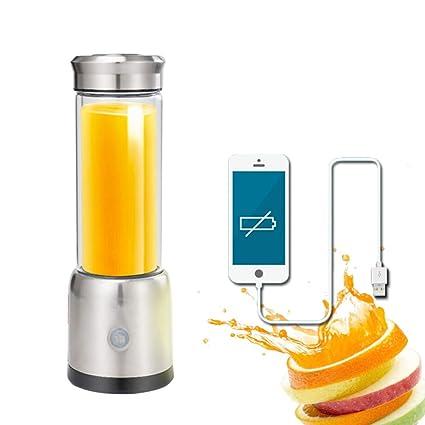 SUNLMG USB Carga exprimidor multifunción Doble Vidrio portátil automático de Zumo de Frutas y Verduras máquina