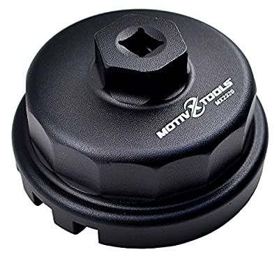 Motivx Tools Oil Filter Wrench for Toyota, Lexus, and Scion 2.0 To 5.7 Liter Engines with 64mm Cartridge Style Oil Filter System - Perfect for Camry, RAV4, Tacoma, Highlander, Sienna, Tundra, and More