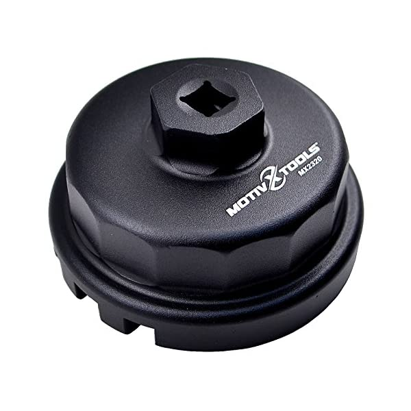 Motivx Tools Oil Filter Wrench for Toyota, Lexus, and Scion 2.0 To 5.7 Liter Engines with 64mm Cartridge Style Oil…