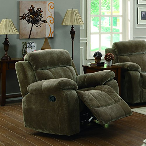Mocha Glider Recliner - Coaster Home Furnishings Myleene Upholstered Glider Recliner with Pillow Arms Mocha