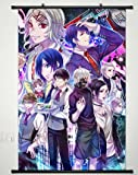 Home Decor Anime Tokyo Ghoul Kaneki Ken Wall Scroll Poster Fabric Painting Japanese Cosplay 23.6 x 35.4 inches - 109