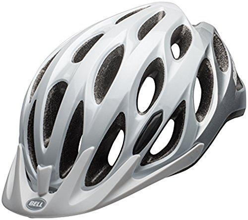 (Bell Traverse XL Helmet Matte White/Silver UXL Performance Headband Bundle)