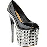 Fashion Thirsty Womens Super Killer High Heels Stripper Pole Dancing Sexy Sandals Shoes 7