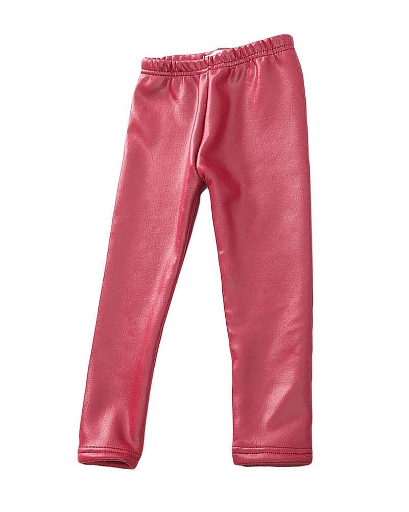 Bambini Ragazze Leggings Similpelle in Foderati Pantaloni Addensare Invernali Lunghi Spessi Stretch Pantalone