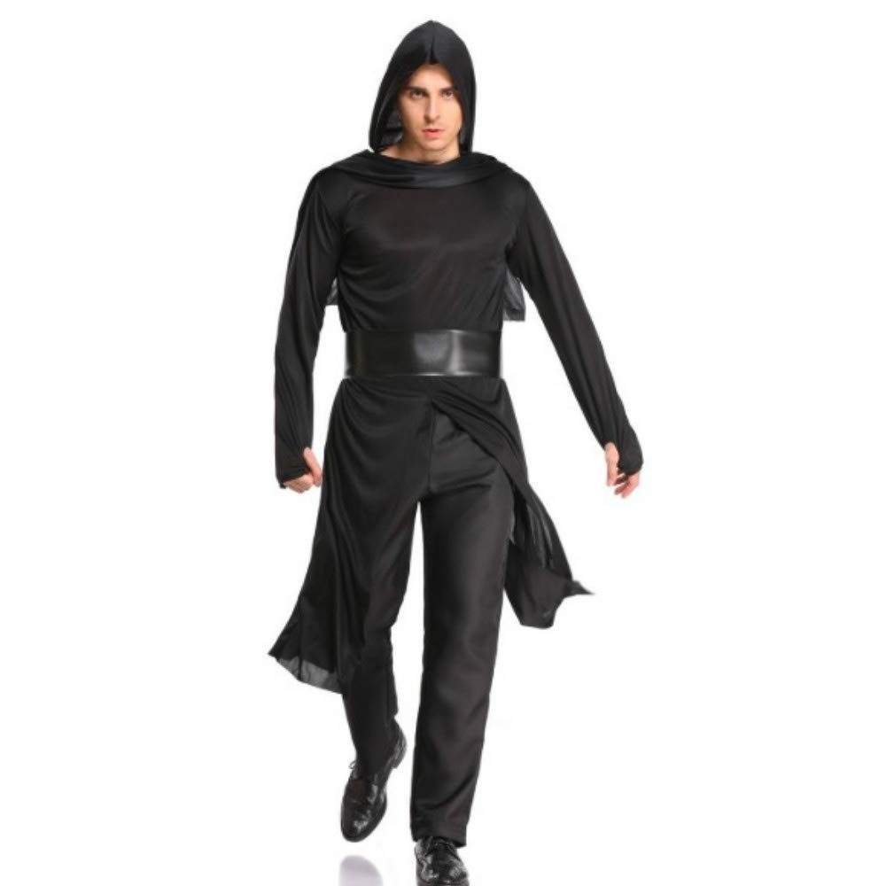 Amazon.com: Adult Black Martial Ninja Clothes Suit Halloween ...