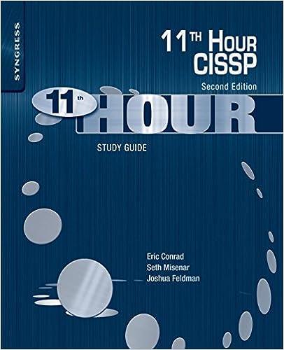 Amazon Com Eleventh Hour Cissp Study Guide 8601405455871 Eric