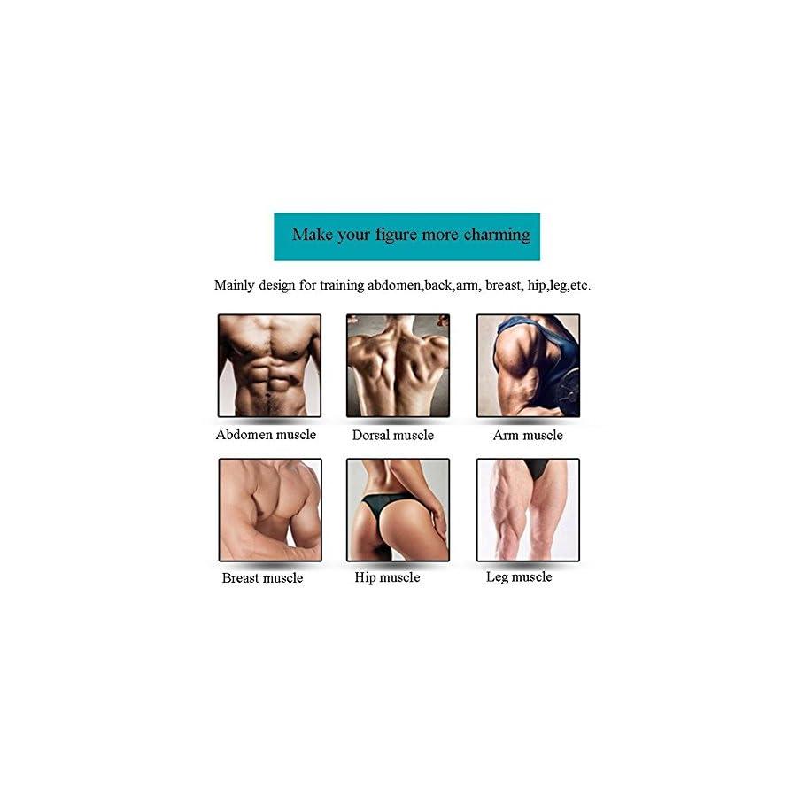 MEILYLA Abdominal Toning Belt Muscle Toner Wireless Muscle Exercise EMS ABS Stimulator For Abdomen/Arm/Leg Training Men Women