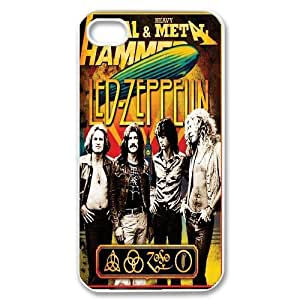 Led Zeppelin Band Poster Hard Plastic phone Case Cover For Iphone 4 4S case cover ART154734