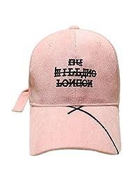 CJH Gorra Mujer Street Hipsters Sombra Primavera y Otoño Letras Gorra de béisbol  Coreana Pink b3c084c719f
