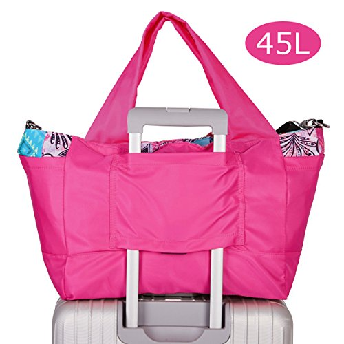 Lightweight Travel Tote Bag - Travel Duffel Foldable Lightweight Bag Large Waterproof Luggage Packing Tote Bag Women