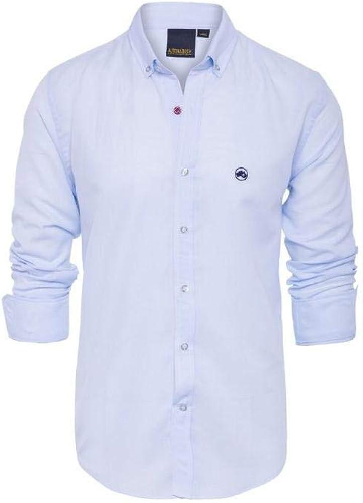 Camisa Azul Claro de Altonadock para Hombre M Azul: Amazon.es: Zapatos y complementos