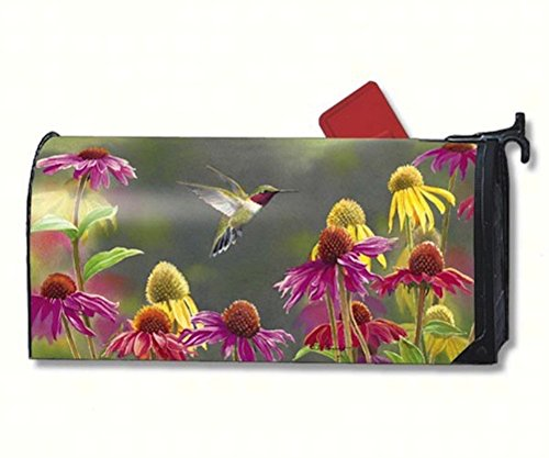 MailWraps Hummingbird Heaven Mailbox Cover #02012 by MagnetWorks