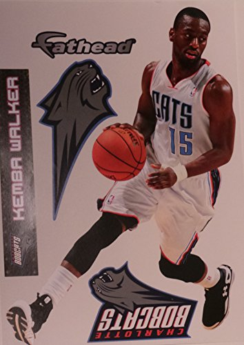 "Kemba Walker Fathead Charlotte Bobcats Official NBA Vinyl Wall Graphic 16""x9"""