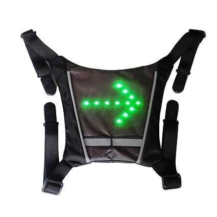 HOMYY Luz LED inalámbrica de Giro, Mochila Chaleco guía, indicador de luz Reflectante, Luminosa, Advertencia de Seguridad con Mando a Distancia para ...