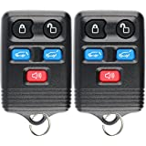 KeylessOption Keyless Entry Remote Control Car Key Fob Clicker Replacement for Expedition CWTWB1U551 (Pack of 2)