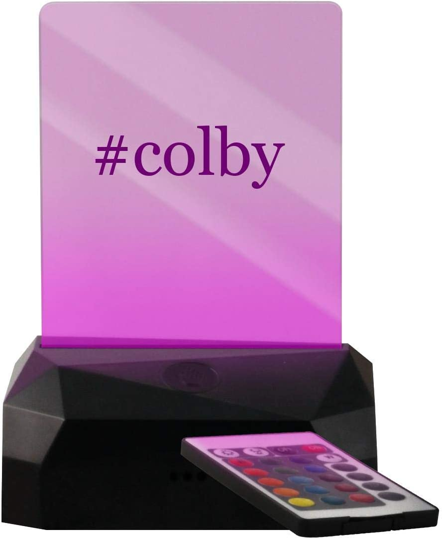 #Colby - Hashtag geführt Usb Rechargeable Rand Lit Sign