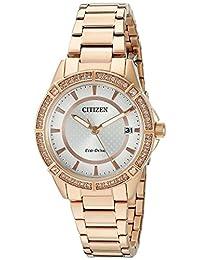 Citizen Women's Round Analog Pink Watch