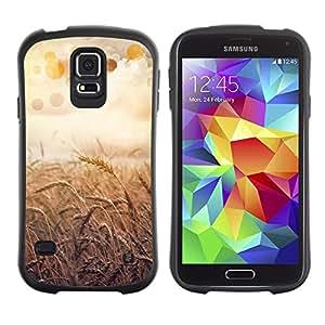 Paccase / Suave TPU GEL Caso Carcasa de Protección Funda para - Nature Beautiful Forrest Green 55 - Samsung Galaxy S5 SM-G900