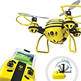 HASAKEE FPV RC Drone with HD WiFi Camera Live Video RC Quadcopter with Altitude Hold, App Control, Headless Mode & One Key Return, Mini Quadcopter Drone for Kids & Beginners, Yellow