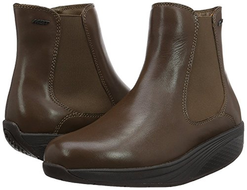 Mbt Wood (MBT WOMEN'S ARUSI ANKLE BOOT WITH VIBRAM SOLE (BLACK OR BROWN) (EU40(9-9.5), DARK WOOD))