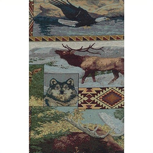 Futon Animal Covers Print - Blazing Needles Tapestry Full Size Futon Cover in The Wild North - 9