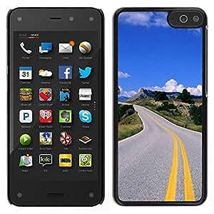 For Amazon Fire Phone Case , Open Highway - Diseño Patrón Teléfono Caso Cubierta Case Bumper Duro Protección Case Cover Funda