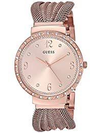 GUESS Women's Quartz Stainless Steel Casual Watch, Color:Rose Gold-Toned (Model: U1083L3)