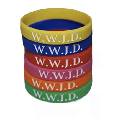 Dreams Products Premium WWJD Bracelets - Set of 6 Silicone - Christian Religious Events, Motivation, Gifts, Support, Causes: Toys & Games