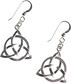 product image for Delicate Celtic Trinity Knot Silver-dipped Earrings on French Hooks