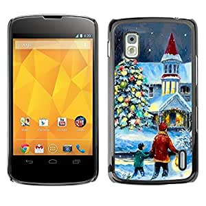 YOYO Slim PC / Aluminium Case Cover Armor Shell Portection //Christmas Holiday Magical Holiday Church 1172 //LG Google Nexus 4