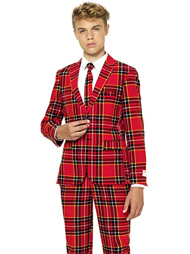 OppoSuits Christmas Suits for Boys in Different Prints - Ugly Xmas Sweater Costumes Include Jacket Pants & Tie