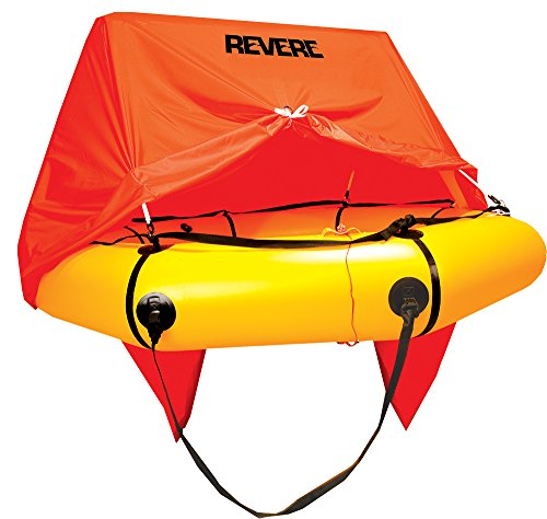 Revere Coastal Compact 4 with Canopy Life Raft by Revere
