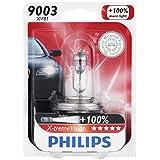 Philips 9003 X-tremeVision Upgrade Headlight Bulb, 1 Pack
