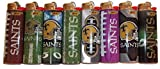 8pc Set BIC New Orleans Saints NFL Officially Licensed Cigarette Lighters
