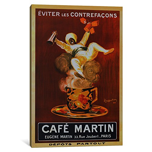 Cappiello Canvas Print - iCanvasART 1 Piece Cafe Martin 'Vintage Art' Canvas Print by Leonetto Cappiello, 0.75 by 12 by 18-Inch