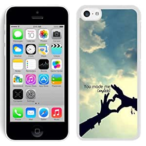 New Beautiful Custom Designed Cover Case For iPhone 5C With You Make Me Complete (2) Phone Case