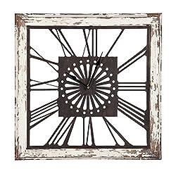 Cape Craftsmen Distressed White Square Clock