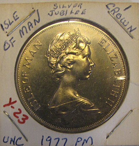 1977 PM Uncirculated Isle of Man 1 Crown - Silver Jubilee
