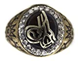 Falcon Jewelry Sterling Silver Men Ring Handmade otoman empaire tugram, Express Shipping