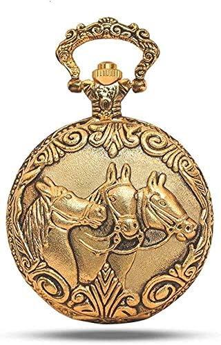 懐表表胸のペンダントレトロ女性男性クラムシェル古い学生お土産、ヨーロピアンスタイルの懐中時計。