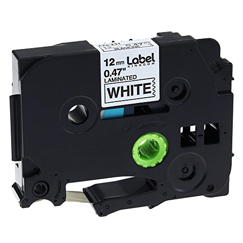 Label KINGDOM 6 Pack Compatible Brother P Touch TZ TZe Tape TZ231 TZe231 for PT-D210 PT-H100 PTD400AD PT-P700 PTD600 PT-1230PC PT-1890C Label Maker, Black on White, 1/2 Inch (12mm) x 8m (26.2ft) Photo #6
