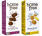 home baked cookies - Home Free Gluten-Free Non-GMO Mini Cookies 2 Flavor Variety Bundle: (1) Double Chocolate Chip, and (1) Lemon Burst, 5 Ounces (2 Boxes)