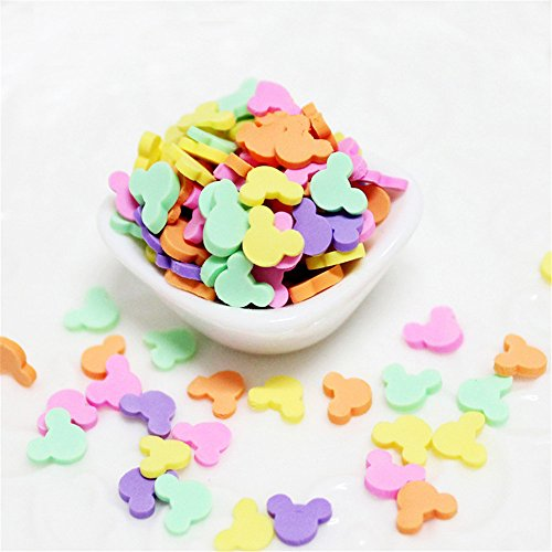 100g Mixed Color Clay Chocolate Sprinkles Heart Shaped DIY Parts Fake Cake Decorating Polymer Clay Sweets Deco Fimo Decoration (G)]()