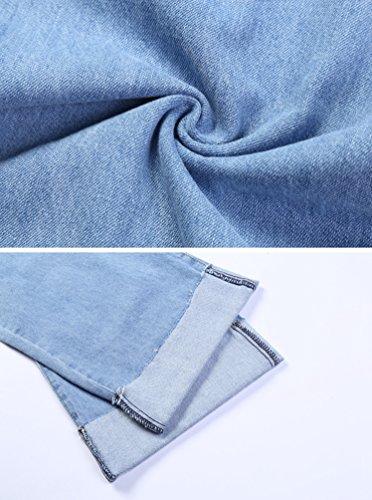 Sueltos Pantalones Pantalones Ancha Pierna Claro De Azul Gran De Retro Mujeres De Moda Lihaer Vaqueros Tamaño F0qt5Kw