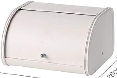ZZKHSM Roll Top Caja de Pan pequeña de Metal al Horno Acabado de Escritorio Snack Caja de Almacenamiento a Prueba de Polvo Contenedor de Pan Cocina Soporte de Comida-Blanco: Amazon.es: Hogar