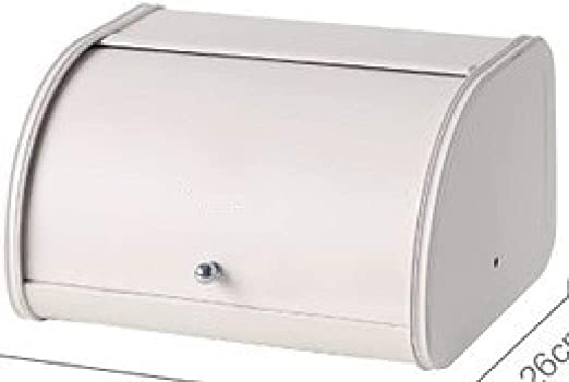 ZZKHSM Roll Top Caja de Pan pequeña de Metal al Horno Acabado de ...
