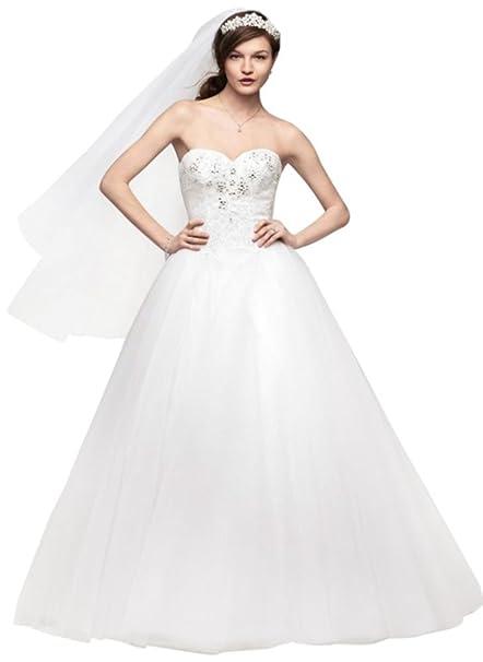 Amazon.com: MUESTRA: sin tirantes tul vestido de boda de ...